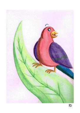 Bird in a leaf