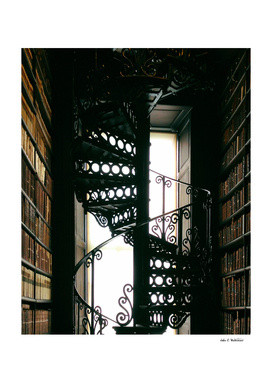 Trinity College Library Spiral Staircase, Dublin, Ireland