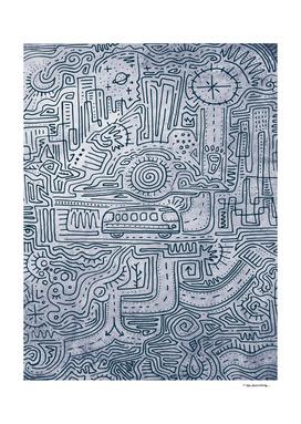 Urban maze illustration