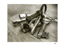 BUNCH OF KEYS - (Done With Felt Tip Pen.)
