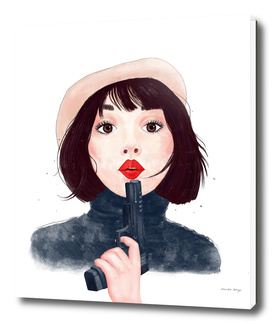 French woman with a gun