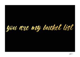 Your are my bucket list