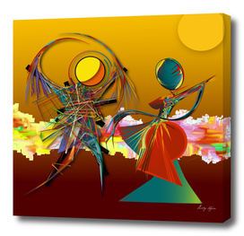 Abstract surreal illustration-dance