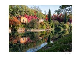 Peschiera's autumn walls