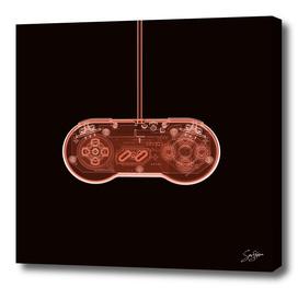 Sasfepu X-Ray Nintendo SNES Joypad Red