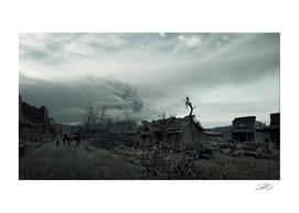 Destroyed Western City