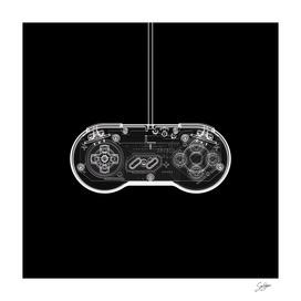 Sasfepu X-Ray Nintendo SNES Joypad white