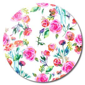 Roses bouquet watercolor