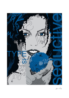 Type Is Seductive (Blue)