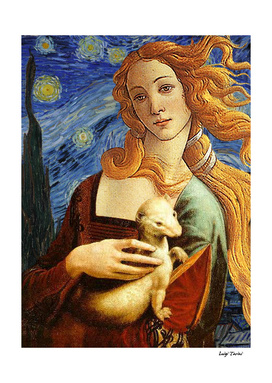 Venus with a Ermine in a Starry Night