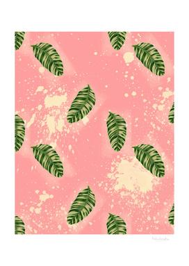 Leaves on Pink