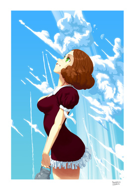 Menina e o céu