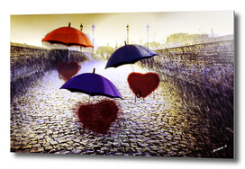 Three Lonely Hearts in the Rain