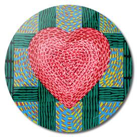 High Energy Teal Heart