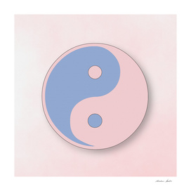 Ying Yang serenity blue and rose quarz