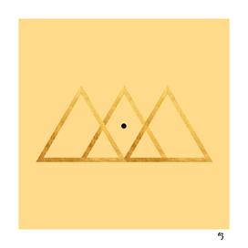 gold triangle point