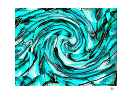 ABSTRACTICALIA - STRIPETILIA SWIRLIA IN LIGHT BLUE