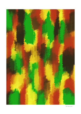 green red yellow and brown painting abstract