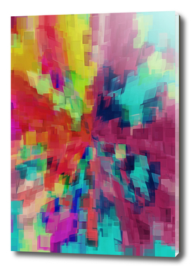 geometric square pattern abstract in pink blue green