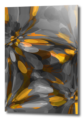 yellow and black bubble abstract texture background