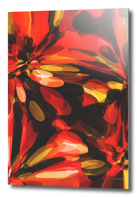 red black and yellow circle pattern abstract background