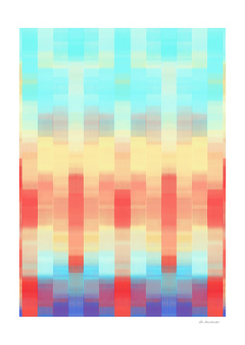 red blue and orange plaid pattern abstract