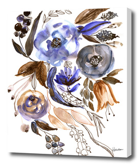 Watercolor Foral Composition