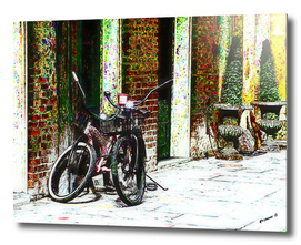 Two Bicycles In the Alley