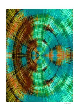 green brown orange and blue circle plaid pattern background