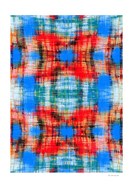 red blue green and black plaid pattern abstract background