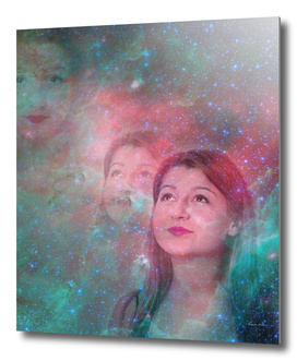 galaxy woman dreaming