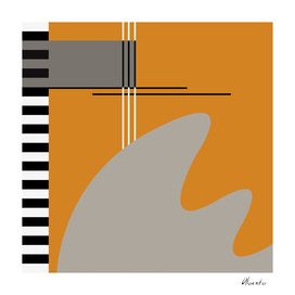Abstract in orange