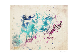 Watercolor Horses