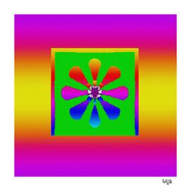Boho flower in colors