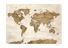 world map music notes