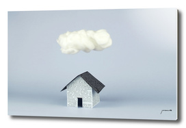 A cloud over the house