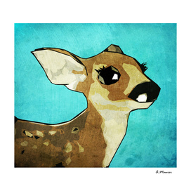 Modern Pop Art Digital Deer