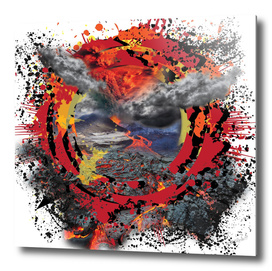 Volcano 3D Abstract