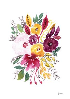 Watercolor Flowers 4