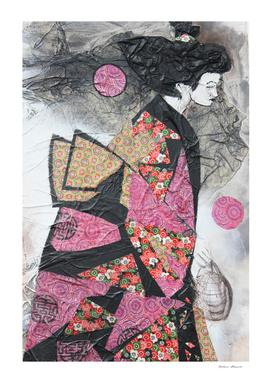 Geisha with lantern