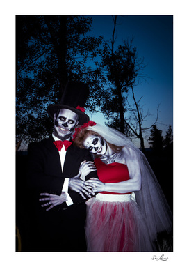 Day Of The Dead Wedding Couple