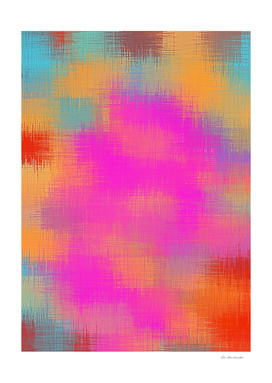red pink orange and blue painting abstract background