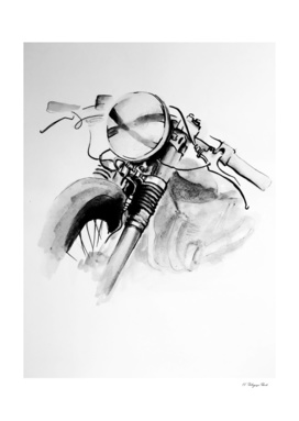 watercolor motorbike