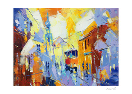 city life cubism