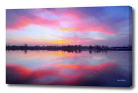Sunset Lake Reflections