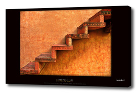 BoomGoo's Fatehpur Sikri stairs (saturated)
