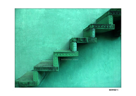BoomGoo's Fatehpur Sikri stairs (lush green)