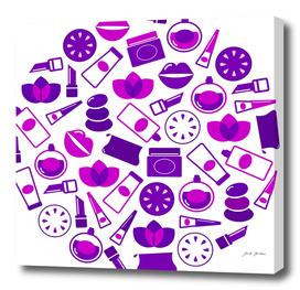 Purple cosmetics Original drawing