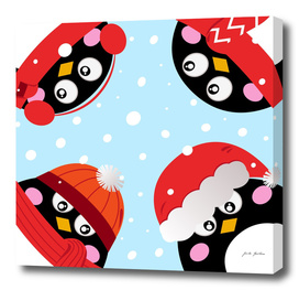 Stylish kids penguins : Original art