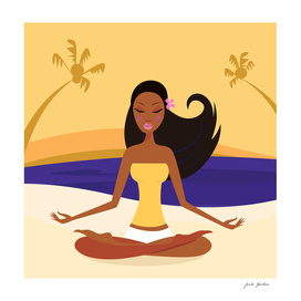 Relaxing wellness girl : PORTRAIT